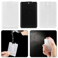 20ml plástico portátil portátil perfume frasco de pulverizador de água hidratante caixa de cartão de cartão de viagem Garrafa de viagem Atomizador de recipiente vazio