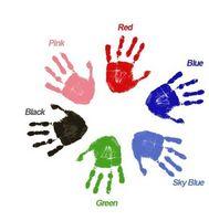 베이비 풋 프린트 손으로 인쇄물은 보름달 유아 세척 무료 스탬프 패드 잉크 보안 환경 보호 가족 기념품 6 2qy J2
