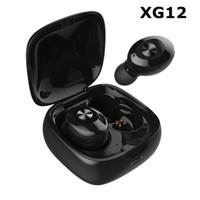 Yeni XG12 Çift TWS Kablosuz Bluetooth 5.0 Kulaklık Stereo HIFI Ses Spor Kulaklık Handsfree Kulak Oyun Kulaklık Mic ile DHL Ücretsiz