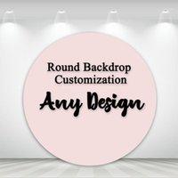 Cualquier partido de diseño con telón de fondo redondo de dibujos animados de dibujos animados fiesta decoración profesional personalizado fotografía circular fondo 1