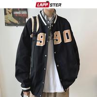Lappster Hommes 1990 Imprimer Vestes de baseball Manteaux Japonais Hip Hop Windbreaker masculin Coréen Fashions Bomber Varsity Vestes 201116