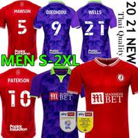 Робинс 2020 2021 Бристоль Сити Футбол Джетки FC Home Red Blue Blue Paterson Wells Semenyo Martin Weimann Men Mailoot De Футбольные рубашки