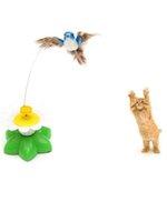 التلقائي الكهربائية الدورية القط لعبة تحلق الطيور البلاستيك مضحك كلب هريرة التدريب التفاعلية اللعب JK2012XB