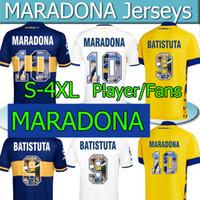4XL Maradona Soccer Jersey Boca Юниоры Специальная печать Марадона Ретро Batistuta 2020 21 Camisetas de Fútbol Вентиляторы Версия для игр Футбол