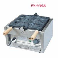 Fabricants de pain 1PC FY-1103A 110V / 220V Electrique A Plaque 3 Fish Taiyaki Maker Machine Machine Snapper avec recette Waffle Baker