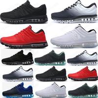 2021 Hot Sell 2017 KPU Hommes Femmes Chaussures de course Mens Casual Triple Triple Noir Blanc Blanc Sports Sports Sneakers Entraîneurs Chaussures 36 à 45
