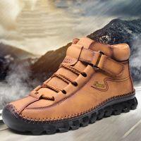 Retro Combat Boots Tobillo Hombres Hombres Casual Zapatos Seguridad Calcetines transpirables Cross Strappy Platform Plataforma Locomotora Herramientas