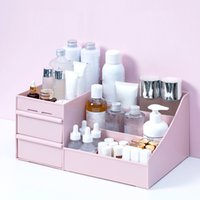 Makyaj organizatör kozmetik için büyük kapasiteli kozmetik saklama kutusu organizatör masaüstü takı oje makyaj çekmece konteyner