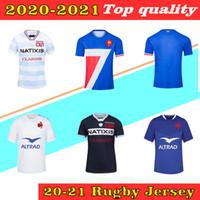 2020 Frankreich Rugby-Weltcup-Trikots 2021 Frankreich Hemden Rugby Maillot de Foot Französisch Boln Rugby Shirt