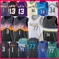 Luka Devin Giannis 1 Booker Doncic AntetokounMpo Basket Jersey Steve Ray Nash Chris Barkley Allen Paul Kristaps Dirk Porzingis Nowitzki