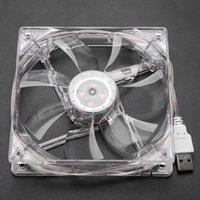 Colidons de ventilateurs 8cm / 12cm USB LED transparent Coloré Coloré Ventilateur de refroidissement RVB CPU CPU