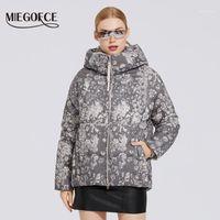 Miegofce 2020 Kış Yeni kadın Koleksiyonu Ceket Benzersiz Baskılı Tasarım Kadın Ceket Kış Parka Kadınlar Ceket Rüzgar Geçirmez Giyim1