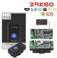 전원 스위치 25K80 elm327 v1.5 obd2 인터페이스 스캔 도구와 새로운 미니 ELM 327 블루투스 자동차 탐지기 iOS 안드로이드