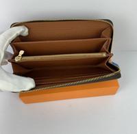 2020 оптом большой логотип днища леди длинный кошелек многоцветный дизайнер монеты кошелек держатель карты оригинальная коробка женщин классический карман на молнии 60017