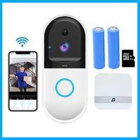 Smart IP Sans fil Vidéo Door Bell B50 Interphone Wi-Fi Téléphone Vidéo Téléphone WiFi Doorbell Caméra Appartements Fir Alarm Accueil Sécurité Cam