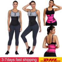 ABD Stok Erkek Kadın Şekillendirme Bel Eğitmen Kemer Korse Göbek Zayıflama Shapewear Ayarlanabilir Bel Desteği Vücut Şekillendirme FY8084