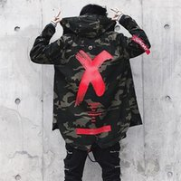 Avril Momo Hommes Spring Camouflage Harajuku Vol Veste Veste Mâteau Casual Casual Mode Camouflage Bombard Capuche à capuche 201118