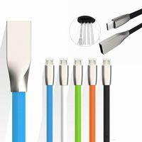 Chargeur rapide de haute qualité 2A 1M Micro USB Câble USB en Alliage de zinc en métal TPE TPE Cordon Sync Sync Chargeur pour Samsung Galaxy S7 S8 Note8