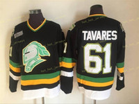 CHL London Ritter Jerseys Vintage 61 John Tavares Jersey Black Men Stitched CCM Hockey-Trikots