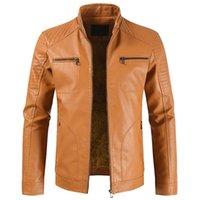 Männer Pelz Faux 2021 Männer Frühling Vintage Casual Stil Fleece Leder Jacken Mantel Outwear Mode Motor Fahrradjacke