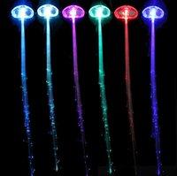 Estensione della treccia Lampada per capelli luminosi Flash Up LED Party Girl Hair Glow by Fiber Ottic per la festa Natale Halloween luci notturne decorazione