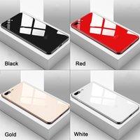 الفاخرة تصفيح الزجاج المقسى حالة الهاتف لابل اي فون 11 برو ماكس x xr xs ماكس 8 7 6 ثانية زائد سليم غطاء أسود الذهب الأحمر الأبيض