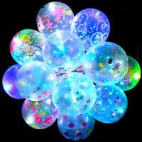 크리 에이 티브 패션 발렌타인 데이 빛나는 풍선 투명 LED 보보 공 크리스마스 할로윈 선물 파티 웨딩 장식 E121803