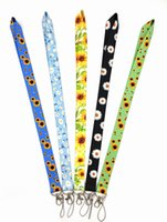 10 pcs flor crisântemo cordão de girassol para chaves costa do telefone móvel ID do crachá Chaveiro Chaveiro DIY Acessórios