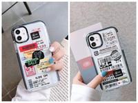 Billets d'avion World Country Label Coques de téléphone pour iPhone 11 12 Mini Pro Max XR 8 7 SOFT TPU Board Couverture