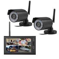 أنظمة لاسلكية CMOS التناظرية CCTV كاميرا مراقبة DVR كيت 380TVL IR 2.4GHZ نظام 4channel1