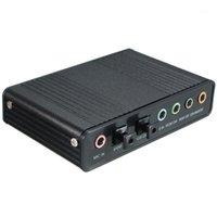 بطاقات الصوت الخارجية USB 5.1 3D بطاقة الصوت الظاهري 7.1 قناة محول محول كابل 1