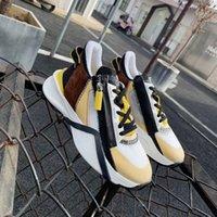 الرجال تدفق رياضة عداء المدربين أعلى جلد الغزال الأحذية شبكة سستة رياضة أفضل جودة النساء الأحذية عارضة مع صندوق 259