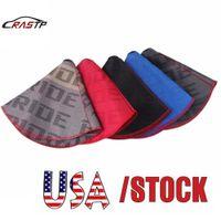 Rastp-USA Stock Universal JDM 스타일 신부 캔버스 시프트 레버 노브 부팅 커버 레이싱 자동차 시프트 노브 칼라 RS-SFN059