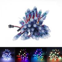 RGB WS2811 IC LED-Pixel-Modul-Beleuchtung 12mm IP68 wasserdichte Punkteuchten DC 5V String-Weihnachten adressierbare Licht für Buchstabenzeichen Werben