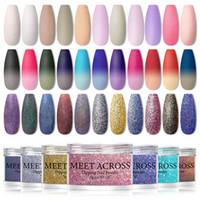 Großhandel Tauchnagel Pulver Gradienten Französisch Dip Nagel Glitter Ohne Lampe Heilung Chrom Pigment Puder Nail Art Design