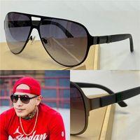 جديد أزياء الرجال تصميم النظارات الشمسية التفاف الشمس الطيار إطار طلاء مرآة عدسة ألياف الكربون الألياف الساقين الصيف نمط 2252