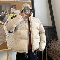Homens Colorido Winter Parkas Coat Streetwear Hip Hop Bolsos Grésos Jaquetas Mens Moda Fashion Coreano Tops