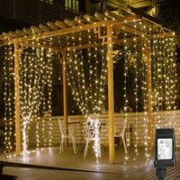 3x3m Fada Cortina Luz LED Garland Luzes de Corda de Casamento para Casa Quarto Janela de Janela Feriado Festa de Natal Decoração