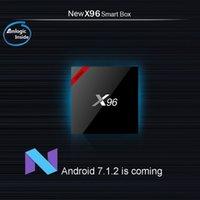 X96 x96W Android 7.1 TV Boîte WiFi S905W Smart TV Box 1GB 8GB Quad Core 4K Lecteur multimédia X 96