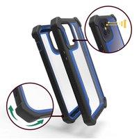 Cubierta de acrílico transparente de protección completa Cajas de defensa a prueba de golpes para Samsung S20 Ultra S20-PLUS S10 Nota 20 TCL REVVL-5G REVVL 4