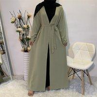 عيد مبارك عباية كيمونو كارديجان قفطان دبي تركيا الحجاب مسلم اللباس إسلام الملابس عباية للنساء رداء musulman de mode1