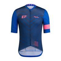 Nuevos hombres Rapha Team Cycling Jersey de manga corta Camisa de bicicleta Summer Seco rápido MTB Trajes de bicicleta Deportes Uniforme Racing Tops S21030149