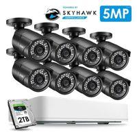 ZOSI 5MP 8CH AHD Analog Videoüberwachungssystem CCTV Kit mit 5MP Sicherheitskameras NightVision Wasserdichte IP67 Outdoor DVR HDD1