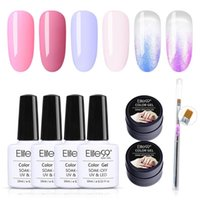 Elite99 6 pz / kit Gel Set di smalto in gel Set con penna per unghie Penna Soak Off UV LED Shimmer Gel Polish Hybrid Vernice Vernice Art Manicure Set