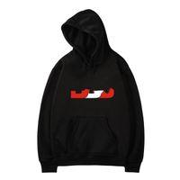 Design nova carta de moda impresso hoodie pulôver manga longa outono inverno preto cinzento branco homens camisolas
