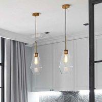 거실에 대 한 현대 유리 펜 던 트 조명 주방 노르딕 LED henglamp 로프트 산업용 매달려 램프 홈 장식 등기구 E27