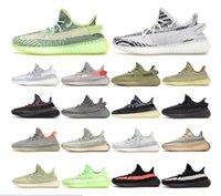 2019 탑 남성 스포츠 신발 Kanye West 35o V2 얼룩말 정전기 크림 화이트 버터 블랙 브리드 디자이너 35o 신발 여성 운동화