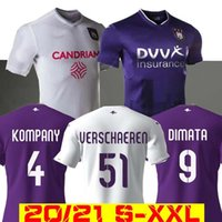 20 21 RSC Anderlecht Fussball Jersey Verriegen 2020 2021 RSCA Trebel Home Away Camiseta Football Hemd Kompany Maillots de Football Pjaca