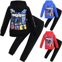 Fortnite çocuk eğlence suit-erkek fermuar kapüşonlu ceket hoodie + pantolon-çocuk bebek spor 2 parça set bebek çocuk giyim giyim setleri