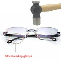 Bifocal di alta qualità Bifocal Anti Blue Legging Glasses Portatile Multifocal Desider Diam Diamond Taglio Diamante Nuovo